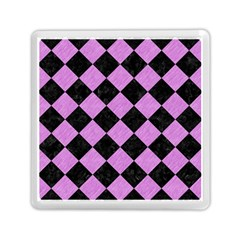 Square2 Black Marble & Purple Colored Pencil Memory Card Reader (square)