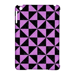 Triangle1 Black Marble & Purple Colored Pencil Apple Ipad Mini Hardshell Case (compatible With Smart Cover)