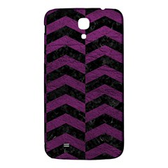 Chevron2 Black Marble & Purple Leather Samsung Galaxy Mega I9200 Hardshell Back Case