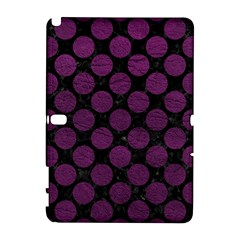 Circles2 Black Marble & Purple Leather (r) Galaxy Note 1