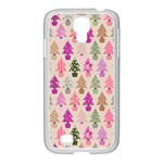 Christmas tree pattern Samsung GALAXY S4 I9500/ I9505 Case (White) Front