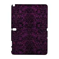 Damask2 Black Marble & Purple Leather Galaxy Note 1