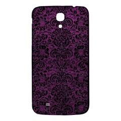 Damask2 Black Marble & Purple Leather Samsung Galaxy Mega I9200 Hardshell Back Case