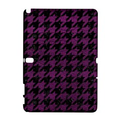 Houndstooth1 Black Marble & Purple Leather Galaxy Note 1