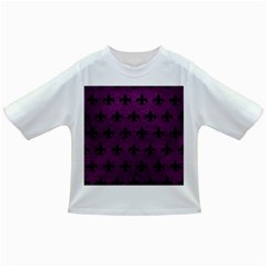 Royal1 Black Marble & Purple Leather (r) Infant/toddler T Shirts