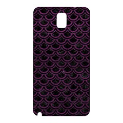 Scales2 Black Marble & Purple Leather (r) Samsung Galaxy Note 3 N9005 Hardshell Back Case