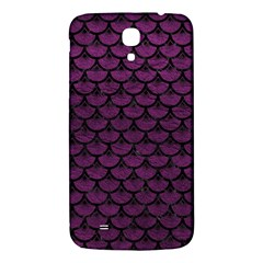 Scales3 Black Marble & Purple Leather Samsung Galaxy Mega I9200 Hardshell Back Case