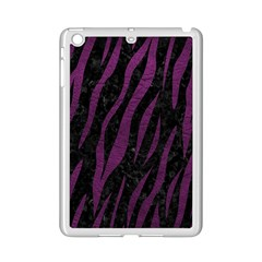Skin3 Black Marble & Purple Leather (r) Ipad Mini 2 Enamel Coated Cases