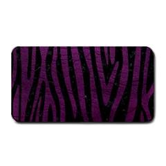Skin4 Black Marble & Purple Leather Medium Bar Mats