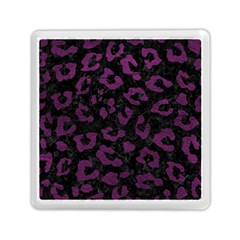 Skin5 Black Marble & Purple Leather Memory Card Reader (square)