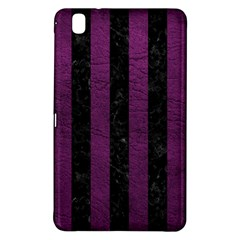 Stripes1 Black Marble & Purple Leather Samsung Galaxy Tab Pro 8 4 Hardshell Case