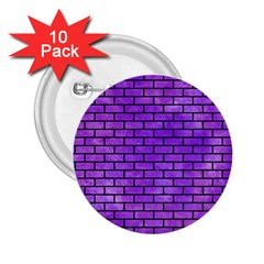Brick1 Black Marble & Purple Watercolor 2 25  Buttons (10 Pack)