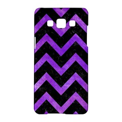 Chevron9 Black Marble & Purple Watercolor (r) Samsung Galaxy A5 Hardshell Case