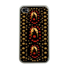 Pumkin Witch In Candles And White Magic Apple Iphone 4 Case (clear)