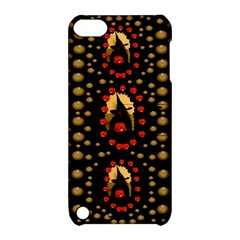 Pumkin Witch In Candles And White Magic Apple Ipod Touch 5 Hardshell Case With Stand