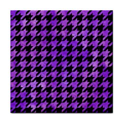 Houndstooth1 Black Marble & Purple Watercolor Face Towel