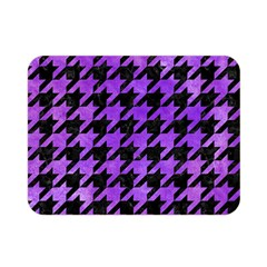 Houndstooth1 Black Marble & Purple Watercolor Double Sided Flano Blanket (mini)