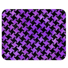 Houndstooth2 Black Marble & Purple Watercolor Double Sided Flano Blanket (medium)
