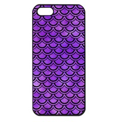 Scales2 Black Marble & Purple Watercolor Apple Iphone 5 Seamless Case (black)