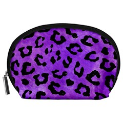 Skin5 Black Marble & Purple Watercolor (r) Accessory Pouches (large)