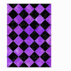 Square2 Black Marble & Purple Watercolor Small Garden Flag (two Sides)