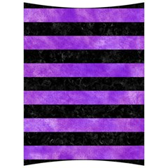 Stripes2 Black Marble & Purple Watercolor Back Support Cushion