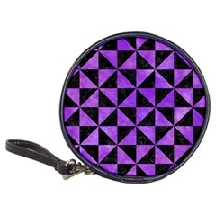 Triangle1 Black Marble & Purple Watercolor Classic 20 Cd Wallets