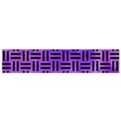 Woven1 Black Marble & Purple Watercolor Flano Scarf (small)