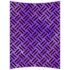 Woven2 Black Marble & Purple Watercolor Back Support Cushion