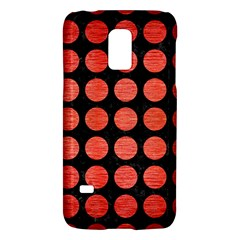 Circles1 Black Marble & Red Brushed Metal (r) Galaxy S5 Mini