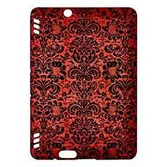 Damask2 Black Marble & Red Brushed Metal Kindle Fire Hdx Hardshell Case