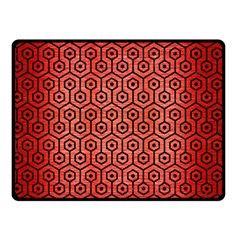 Hexagon1 Black Marble & Red Brushed Metal Double Sided Fleece Blanket (small)