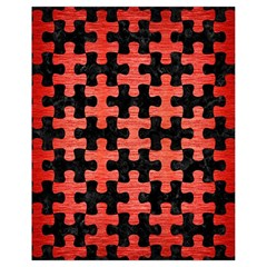 Puzzle1 Black Marble & Red Brushed Metal Drawstring Bag (small)