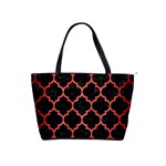 TILE1 BLACK MARBLE & RED BRUSHED METAL (R) Shoulder Handbags Front