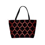 TILE1 BLACK MARBLE & RED BRUSHED METAL (R) Shoulder Handbags Back