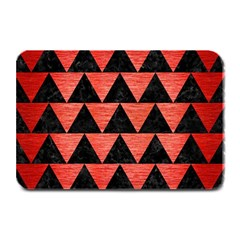 Triangle2 Black Marble & Red Brushed Metal Plate Mats