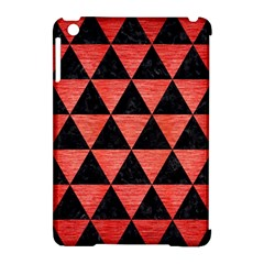 Triangle3 Black Marble & Red Brushed Metal Apple Ipad Mini Hardshell Case (compatible With Smart Cover)