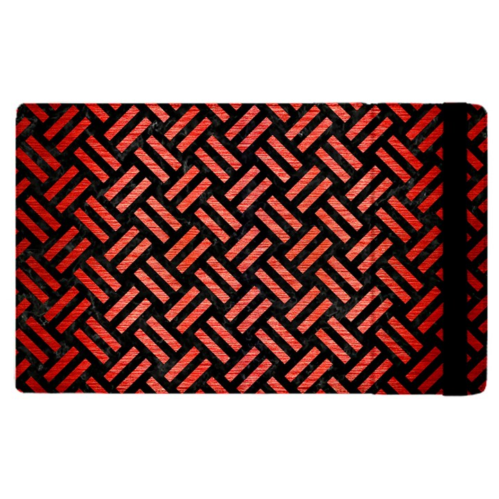 WOVEN2 BLACK MARBLE & RED BRUSHED METAL (R) Apple iPad Pro 12.9   Flip Case
