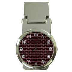 Brick1 Black Marble & Red Colored Pencil (r) Money Clip Watches