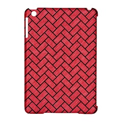 Brick2 Black Marble & Red Colored Pencil Apple Ipad Mini Hardshell Case (compatible With Smart Cover)