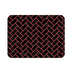 Brick2 Black Marble & Red Colored Pencil (r) Double Sided Flano Blanket (mini)