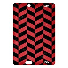 Chevron1 Black Marble & Red Colored Pencil Amazon Kindle Fire Hd (2013) Hardshell Case