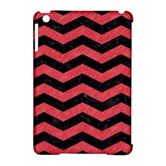 Chevron3 Black Marble & Red Colored Pencil Apple Ipad Mini Hardshell Case (compatible With Smart Cover)