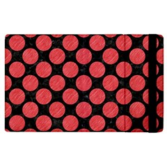 Circles2 Black Marble & Red Colored Pencil (r) Apple Ipad 2 Flip Case