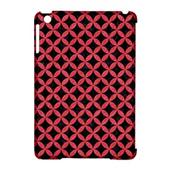 Circles3 Black Marble & Red Colored Pencil (r) Apple Ipad Mini Hardshell Case (compatible With Smart Cover)