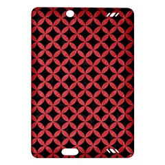 Circles3 Black Marble & Red Colored Pencil (r) Amazon Kindle Fire Hd (2013) Hardshell Case