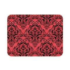Damask1 Black Marble & Red Colored Pencil Double Sided Flano Blanket (mini)
