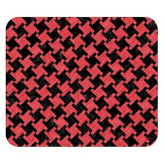 Houndstooth2 Black Marble & Red Colored Pencil Double Sided Flano Blanket (small)