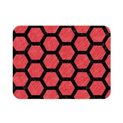 Hexagon2 Black Marble & Red Colored Pencil Double Sided Flano Blanket (mini)