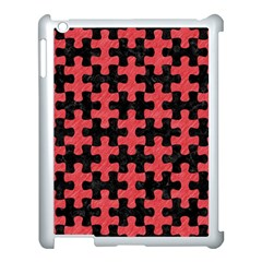 Puzzle1 Black Marble & Red Colored Pencil Apple Ipad 3/4 Case (white)
